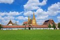 Thailand grand palace in cloudy day Royalty Free Stock Image