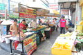 Thailand hawker was selling food drinks at street Royalty Free Stock Photo