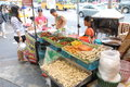 Thailand hawker was selling food drinks at street Royalty Free Stock Image
