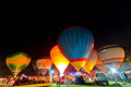 Thailand internaltion balloon festival chiangmai december glowing show at during december at chiang mai this is the one of Royalty Free Stock Image