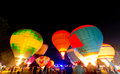 Thailand internaltion balloon festival chiangmai december glowing show at during december at chiang mai this is the one of Royalty Free Stock Photography