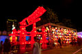 Thailand international lantern festival chiangmai august red gate at on august in chiang mai the is Royalty Free Stock Photo