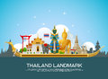 Thailand landmark travel vector