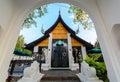 Thailand lanna style architecture starbucks chiang mai december at kad farang mall in chiangmai northern s Stock Photo