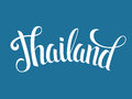 Thailand lettering poster