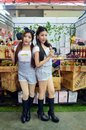 Thailand makro trade fair bangkok thailand june unidentified model presented juice product impact convention cent in food center Royalty Free Stock Images