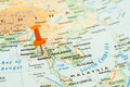 Thailand map pin Royalty Free Stock Photo