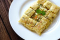 Thailand muslim food Martabak or murtabak, arabian stuffed bread Royalty Free Stock Photo