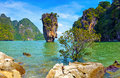 Thailand nature james bond island view tropical landscape Stock Photos