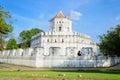 Thailand old turret historic building call pom pra su ma ru Stock Photo