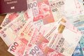 Thailand pass med hong kong valuta Royaltyfria Bilder