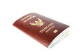 Thailand passport book isolate sideview on white backgrounds Royalty Free Stock Photos