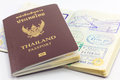 Thailand passport and visas. Royalty Free Stock Photo