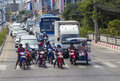 Thailand, Pattaya, traffic road Stock Photo