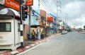 Thailand. Phuket street.  Editorial only. Stock Photography