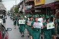 Thailand political rally Royalty Free Stock Photo