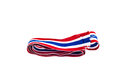 Thailand ribbon national flag a symbol for country isolated in white background with clipping path Royalty Free Stock Images