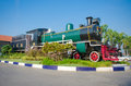 Thailand steam locomotive memorial at chachoengsao station Royalty Free Stock Photos