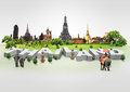 Thailand travel background and infographic concept Stock Image