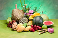 Thailand tropical fruit Stock Photos
