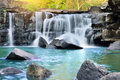 Thailand waterfall is beautiful tat ton in chaiyaphum Stock Photo
