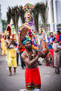 Thaipusam is a hindu festival celebrated mostly by the tamil community on the full moon in the tamil month of thai january Stock Image