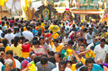 Thaipusam pilgrims and patrons at Batu Cave, Malaysia Stock Photo