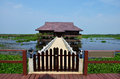Thale noi lake and waterfowl park at phatthalung province thailand non hunting area Stock Photos