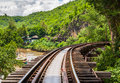 Tham krasae bridge railway kanchanaburi thailand Stock Photos