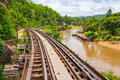 Tham krasae bridge railway kanchanaburi thailand Stock Images