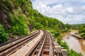 Tham krasae bridge railway kanchanaburi thailand Royalty Free Stock Images
