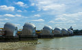 Thames Barrier During the Day Royalty Free Stock Photo