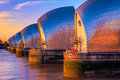 Thames Barrier in London Royalty Free Stock Photo