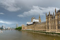Thames river and Houses of Parliament, Palace of Westminster, London, England