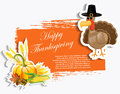 Thangsgiving grunge background vector illustration Stock Image