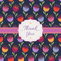 Thank You background with decorative flowers