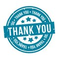 Thank You Badge. Blue Eps10 Vector Stamp