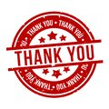 Thank You Badge. Eps10 Vector Stamp