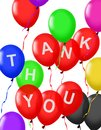 Thank You balloons floating Royalty Free Stock Photo