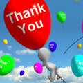 Thank You Balloons Showing Thanks And Gratefulness Royalty Free Stock Photo