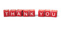 Thank you block letter words Royalty Free Stock Image
