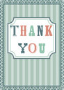 Thank you card Stock Photo