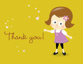 Thank you card Royalty Free Stock Images
