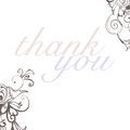 Thank you card with flower Royalty Free Stock Image