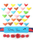 Thank you card saying with love Royalty Free Stock Photography