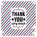 Thank you card on tricolor grunge background gratitude for your clients vector image Royalty Free Stock Image