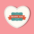 Thank you card vintage Stock Photo