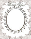 Thank you Card Wedding Frame Royalty Free Stock Photo
