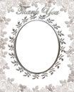 Thank you Card Wedding Frame Royalty Free Stock Photo
