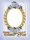 Thank you Card with Wedding Frame Stock Photos